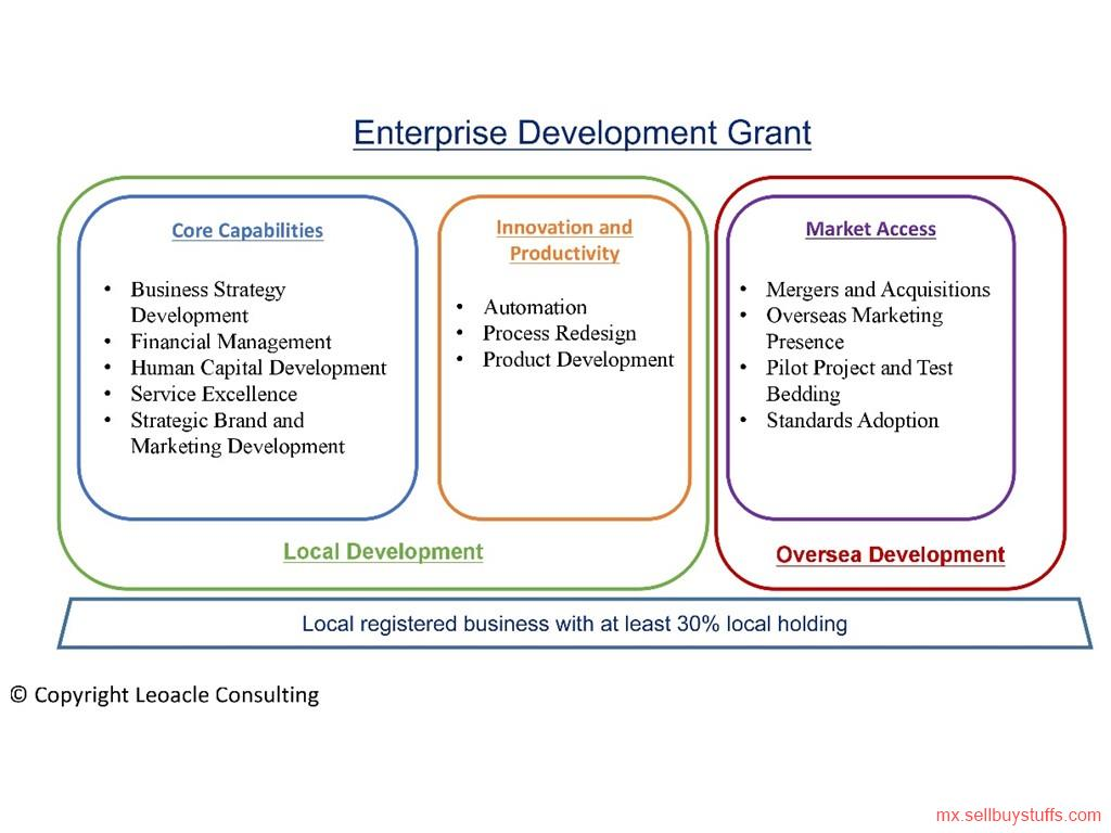 second hand/new: Enterprise Development Grant from Leoacle Consultancy