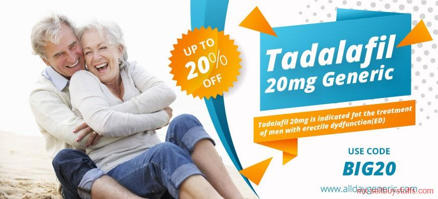 second hand/new: Buy Tadalafil 20mg Generic online at alldaygeneric